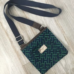 Tommy Hilfiger green and blue crossbody